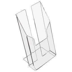 Prospektständer, Prospekthalter DIN A6 Acryl, HMF 46960, 11 x 19,5 x 9 cm