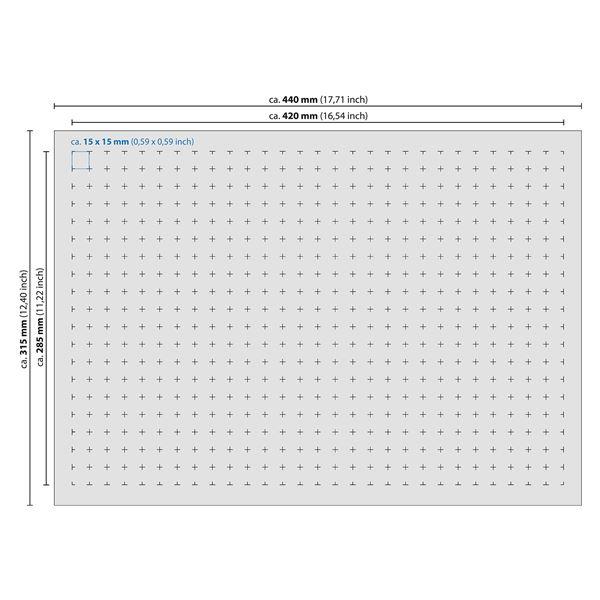 Rasterschaumstoff, Würfelschaum, HMF 1451, 440 x 45 x 315 mm