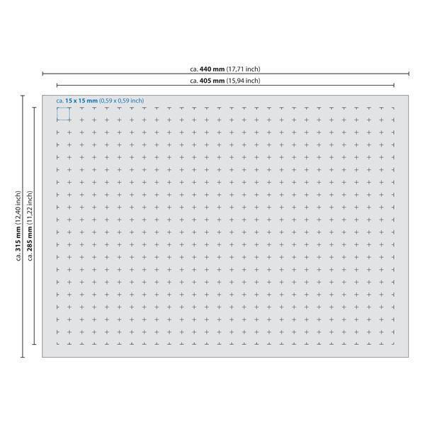 Rasterschaumstoff, Würfelschaum, HMF 1451100, 440 x 315 mm