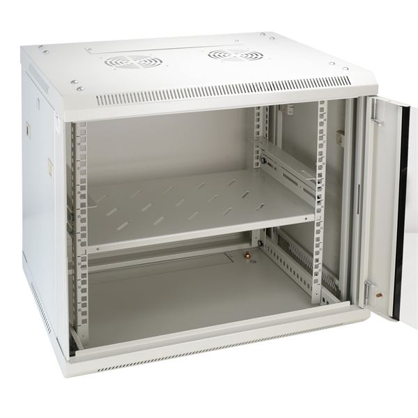 Regalboden Serverschrank, HMF 66499-07, 48,5 x 27 x 4,5 cm, lichtgrau