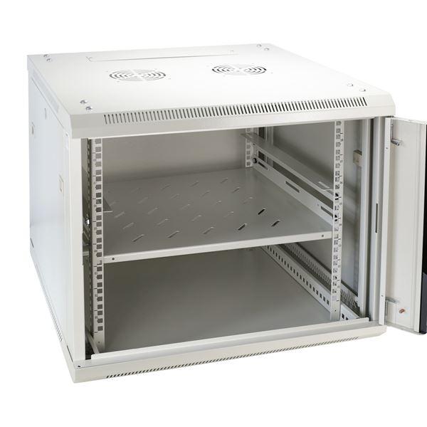 Regalboden Serverschrank, HMF 66699-07, 48,5 x 42 x 4,5 cm, lichtgrau