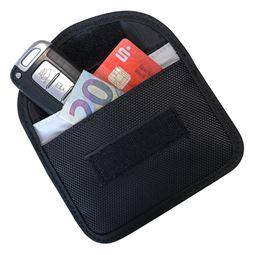 RFID Schutztasche Autoschlüssel, Abschirmung Keyless-Go, HMF 3402-02, 8,5 x 13 x 1,2 cm