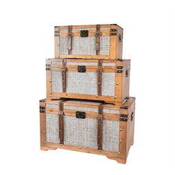 Schatztruhe mit Stoffbezug, Mali, 3er Set, HMF 6420700