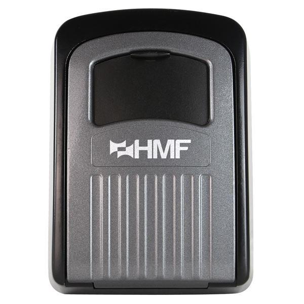 Schlüsselbox 4er Zahlenkombination, HMF 324-02, 12 x 8,5 x 4 cm, schwarz