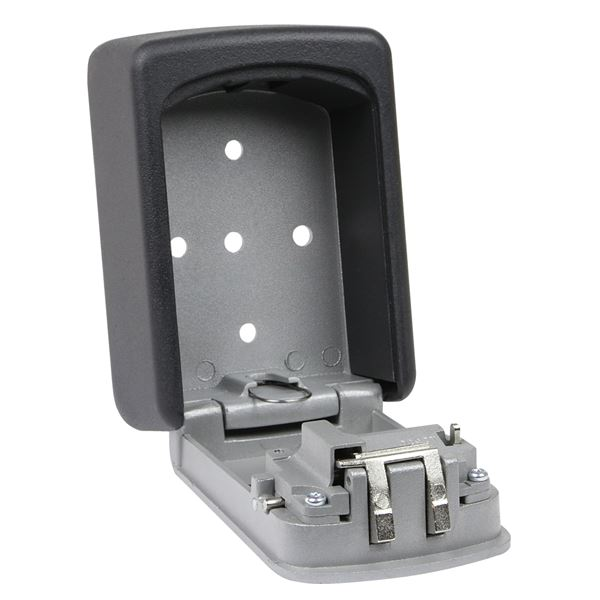 Schlüsselbox 4er Zahlenkombination, HMF 326-02, 12,2 x 8,7 x 4 cm, schwarz