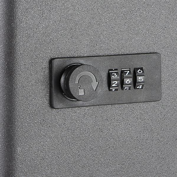 Schlüsselkasten 45 Haken, HMF 14500-02, 30 x 24 x 7,5 cm, schwarz