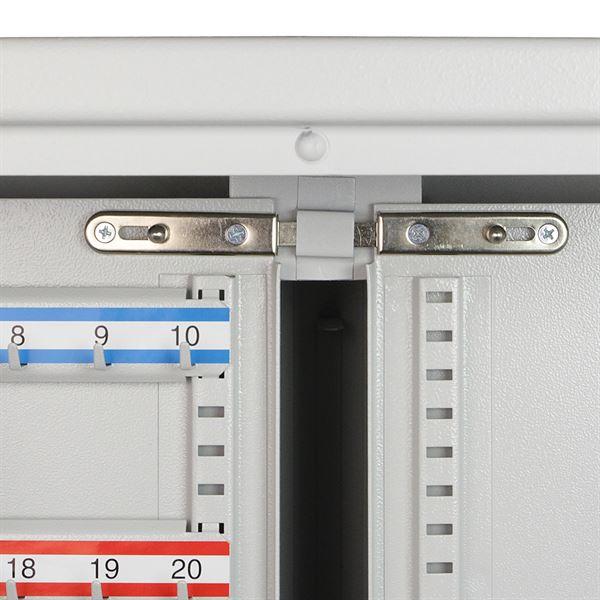 Schlüsselschrank 1170 Haken, HMF 1351170-07, 130 x 73 x 25 cm, lichtgrau