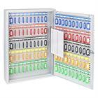 Schlüsselschrank 100 Haken, HMF 135100-07, 55 x 38 x 8 cm, lichtgrau