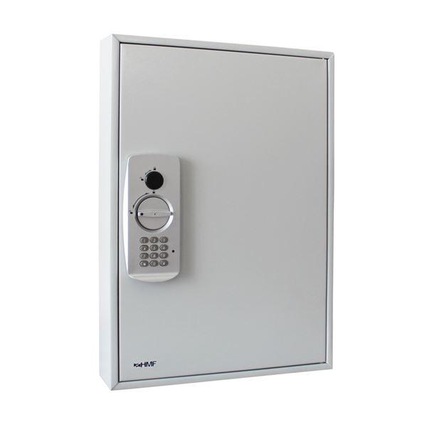 Schlüsseltresor 50 Haken, HMF 13550-07, 55 x 38 x 8 cm, lichtgrau