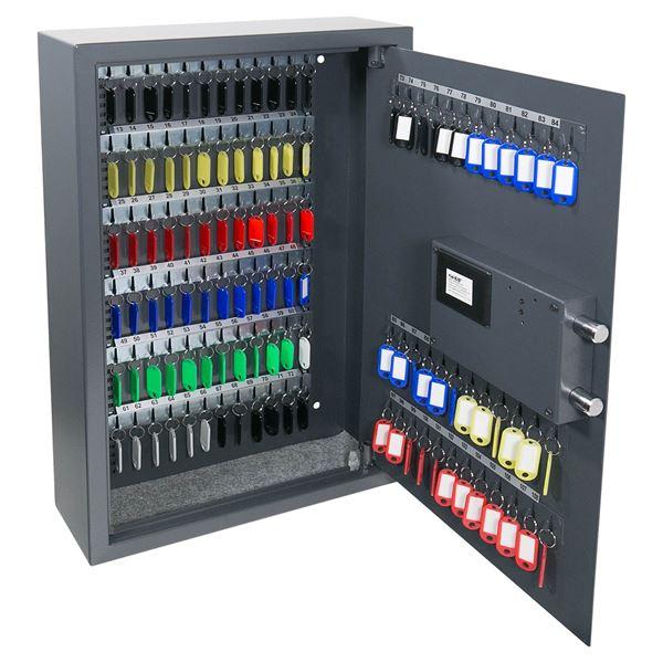 Schlüsseltresor 108 Haken, Fingerabdruckbartschloss, HMF 2700-11, 66,5 x 43 x 13 cm, anthrazit