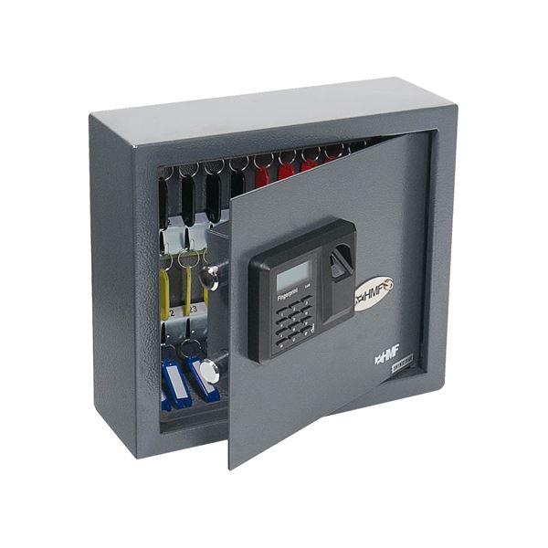 Schlüsseltresor 30 Haken, Fingerabdruckschloss, HMF 2730-11, 30 x 28 x 10 cm, anthrazit