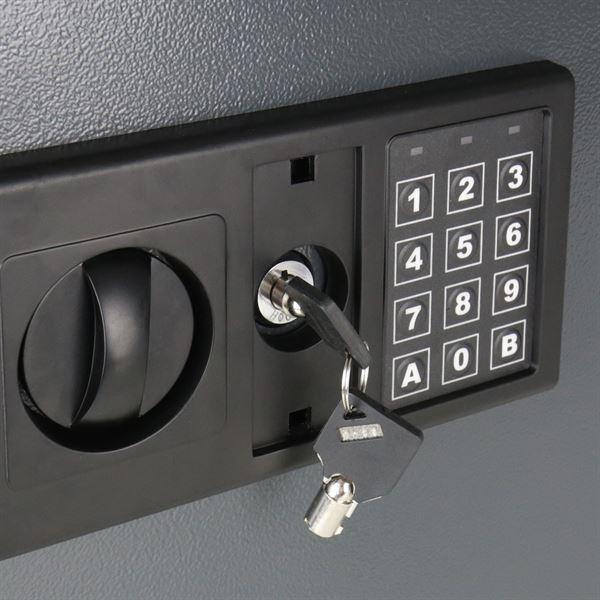 Schlüsseltresor 30 Haken, HMF 2030-11, 30 x 28 x 10 cm, anthrazit