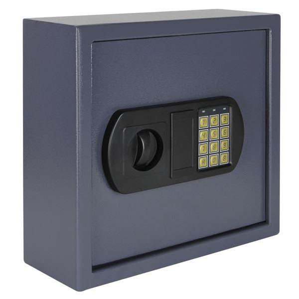 Schlüsseltresor 25 Haken, HMF 2025-07, 31 x 32 x 12 cm, anthrazit