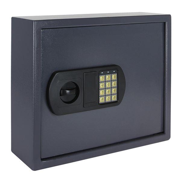 Schlüsseltresor 60 Haken, HMF 2060-07, 34 x 40 x 12 cm, anthrazit