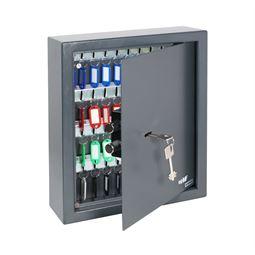 Schlüsseltresor 48 Haken, Doppelbartschloss, HMF 2948-11, 36 x 30 x 10 cm, anthrazit