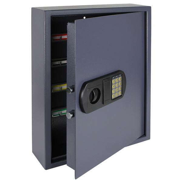 Schlüsseltresor 100 Haken, HMF 2100-07, 55 x 40 x 12 cm, anthrazit