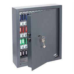 Schlüsseltresor 71 Haken, Doppelbartschloss, HMF 2971-11, 46 x 36 x 12 cm, anthrazit