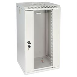 Serverschrank 10 Zoll, 12 HE, HMF 63312-07, 31,2 x 30 x 61,6 cm, lichtgrau
