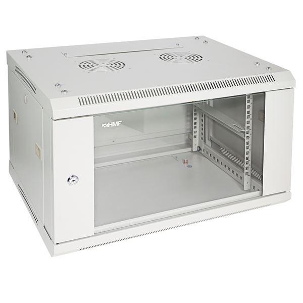 Serverschrank 19 Zoll, 6 HE, HMF 66406-07, 60 x 45 x 37 cm, lichtgrau