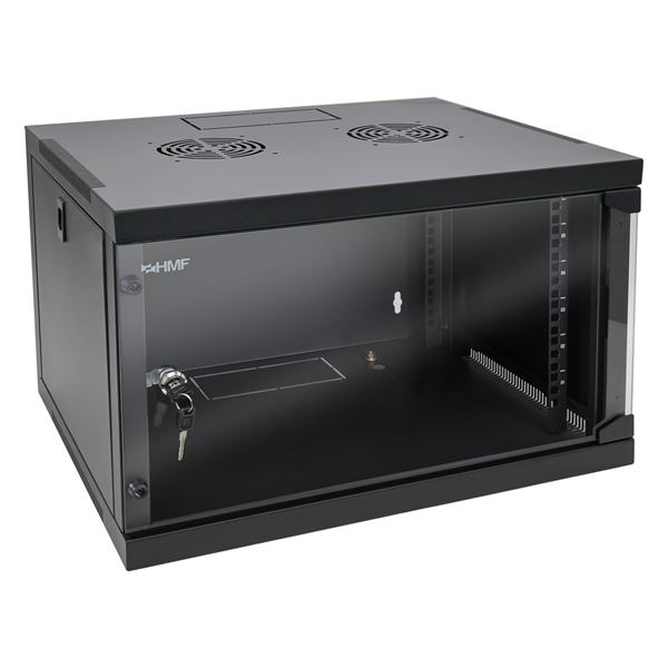Serverschrank 19 Zoll, 6 HE, HMF 65406, 54 x 44,5 x 35 cm,
