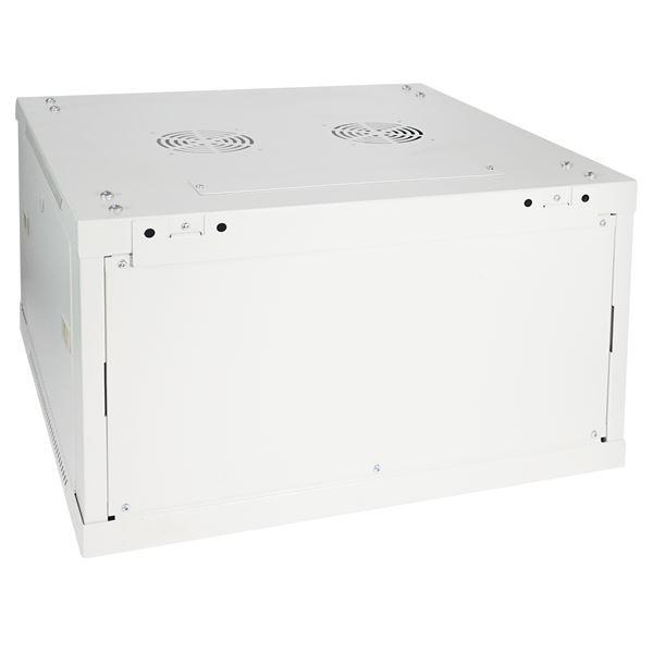 Serverschrank 19 Zoll, 6 HE, HMF 66606-07, 60 x 60 x 37 cm, lichtgrau