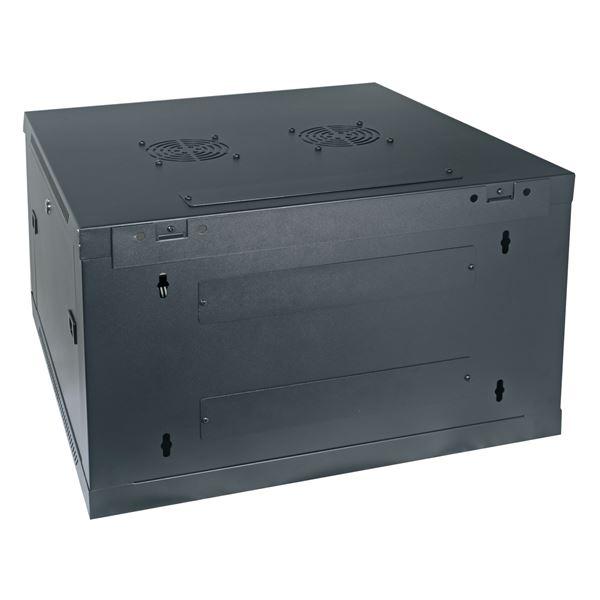 Serverschrank 19 Zoll, 6 HE, HMF 66606-02, 60 x 60 x 36,8 cm, schwarz