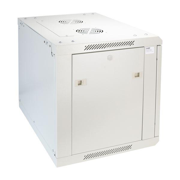 Serverschrank 19 Zoll, 9 HE, HMF 66409-07, 60 x 45 x 50 cm, lichtgrau