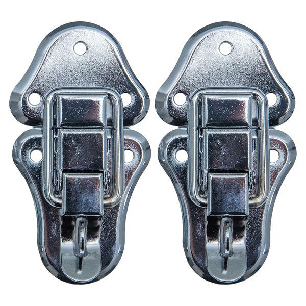 Spannverschluss mit Schlossöse, 2 Stück, HMF 14986-09, 50 x 95 mm, Silber verzinkt