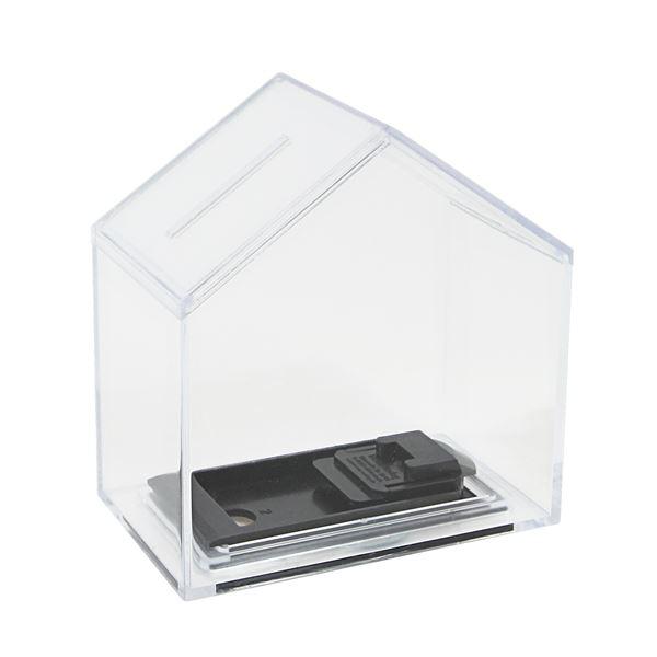 Spardose Haus Acryl, HMF 47720, 11 x 10 x 6 cm
