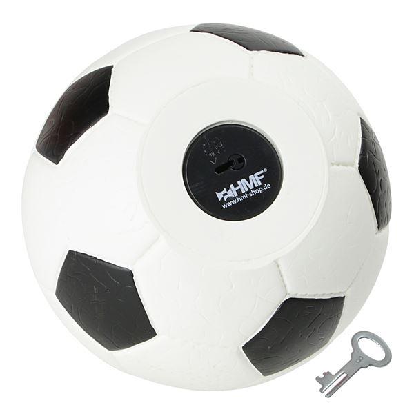 Spardose Fußball Lederoptik, HMF 4790, 15 cm