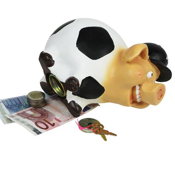 Spardose Fußball Sparschwein, 48990, 19 cm