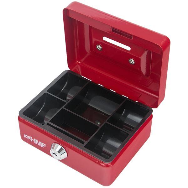 Kinder Spardose, Geldkassette abschließbar mit Schlitz, HMF 102122, 12,5 x 9,5 x 6 cm