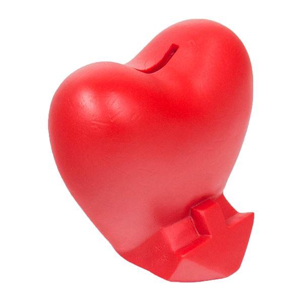 Spardose Herz, HMF 48920, 13,5 x 13,5 x 10 cm