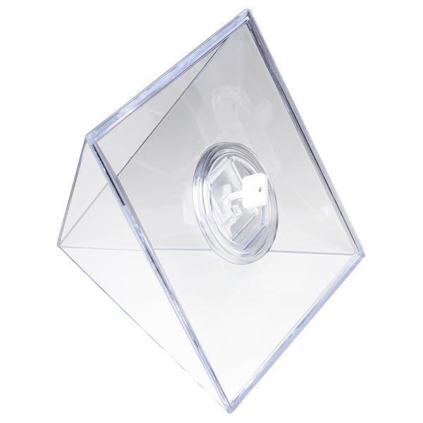 Spardose Pyramide Acryl, HMF 47600, 13 x 12 cm