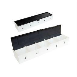 Sparkastenreihe 5er für Sparschränke, HMF 105200, 25 x 4 x 5,7 cm