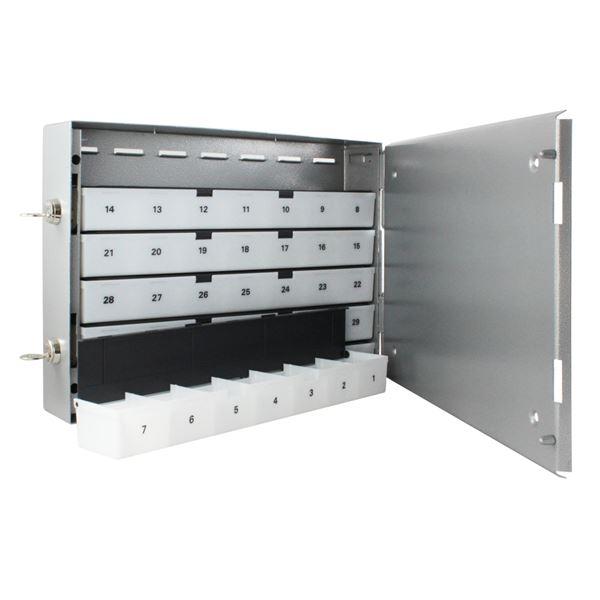Sparschrank 42 Sparfächer, HMF 10542-09, 27 x 39 x 7 cm, silber