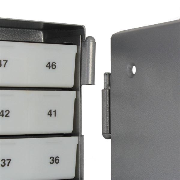 Sparschrank 50 Sparfächer, HMF 10550-09, 43 x 29 x 7 cm, silber
