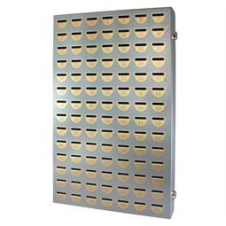 Sparschrank 98 Sparfächer, HMF 10598-09, 60,5 x 39 x 7 cm, silber