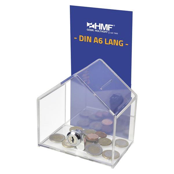 Spendenbox Haus Acryl, HMF 46911, 13,8 x 9 x 12,5 cm