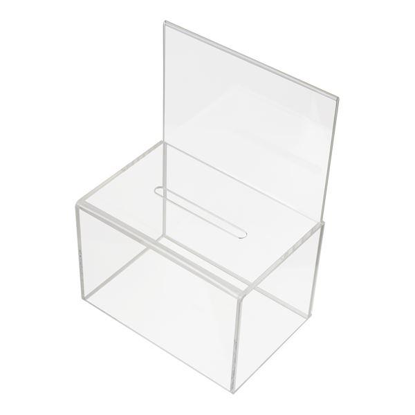 Spendenbox Acryl Din A4 Blatteinschub, HMF 46916, 22 x 15 x 31 cm