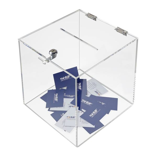 Spendenbox Acryl Würfel, HMF 46917, 25 x 25 x 25 cm