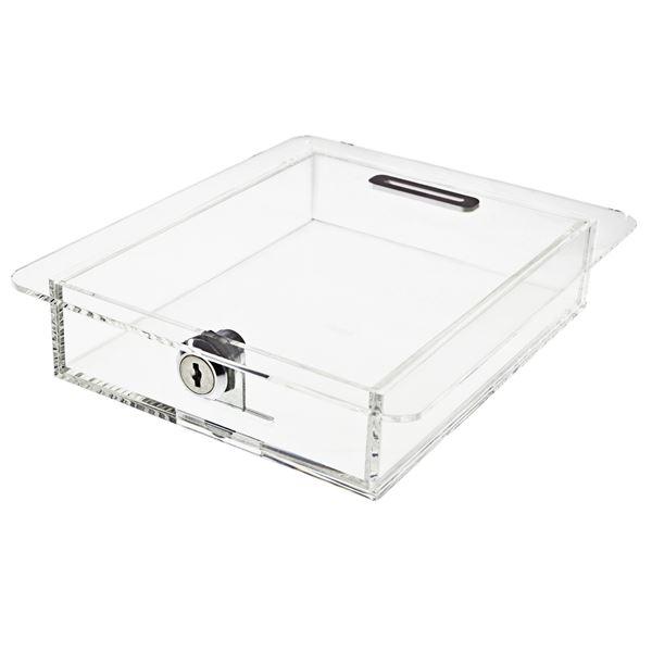 Spendenbox Teller Acryl, HMF 46915, 4,5 x 21,5 x 18 cm