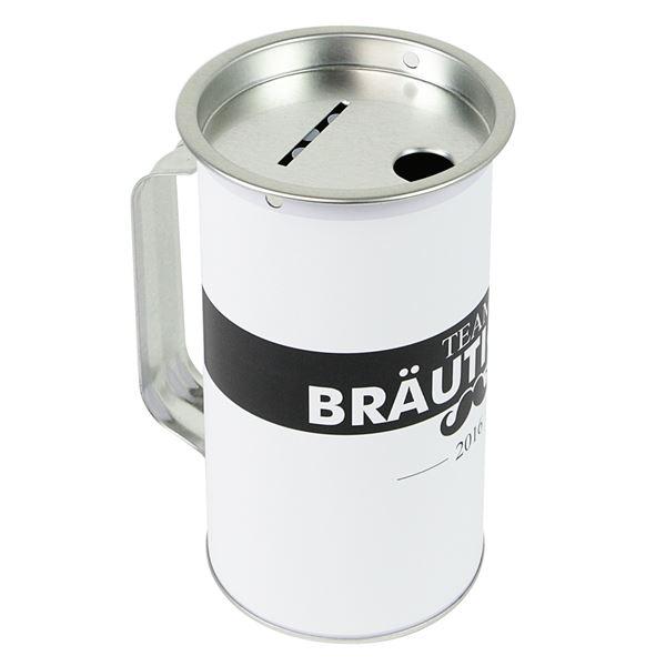 Spendendose mit Griff, inkl. Foliendruck, Junggesellenabschied, HMF 45170-07, 14,5 x 8 cm