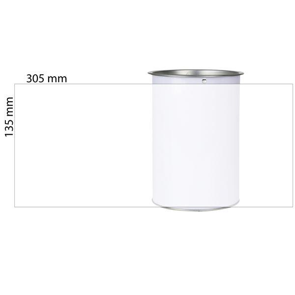 Spendendose, inkl. individiuelle Klebefolie, HMF 46100-07, 14,5 x 10 cm, lichtgrau