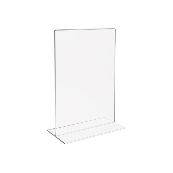 Tischaufsteller Din A5 Acryl, Menükartenhalter, HMF 46921, 15,5 x 21,7 x 8,4 cm