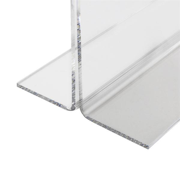 Tischaufsteller Din A5 Acryl, Menükartenhalter, Querformat, HMF 46924, 21,4 x 15,8 x 7,5 cm