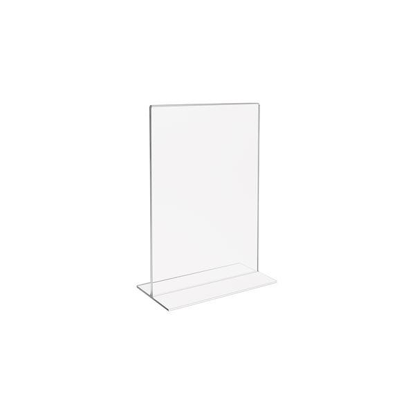 Tischaufsteller Din A6 Acryl, Menükartenhalter, HMF 46920, 11,5 x 15,8 x 6,4 cm