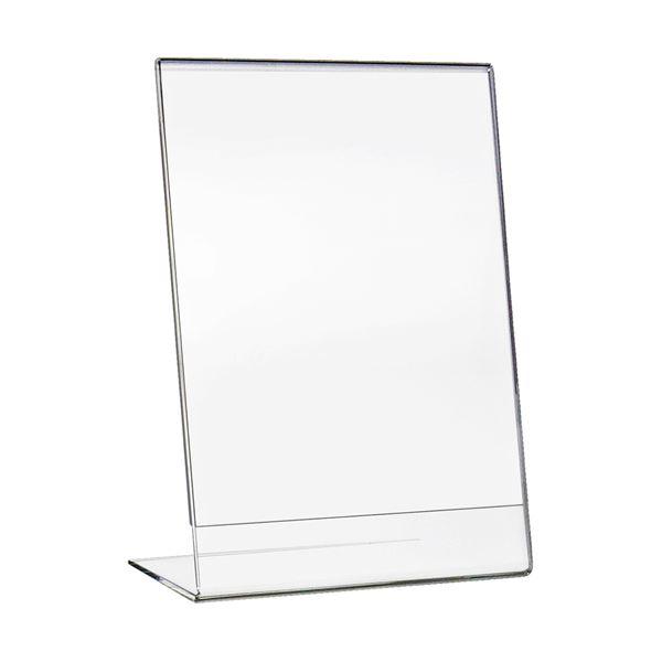 Tischaufsteller L-Ständer Din A4 Acryl, Menükartenhalter, Hochformat HMF 46934, 21,5 x 28,5 x 9,5 cm