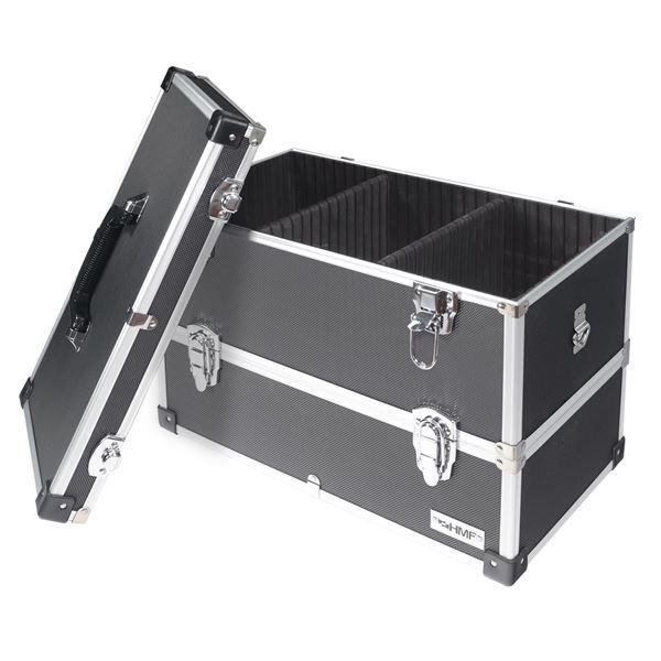 Alu Werkzeugkoffer 2 Etagen leer, verstellbare Facheinteilung, HMF 14660-02, 44 x 32,5 x 24 cm