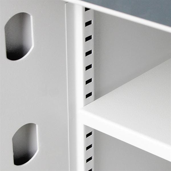 Wertschutzschrank Doppelbartschloss, HMF 43800, 50 x 45 x 46 cm, Anthrazit